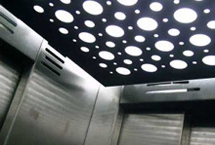 Iluminación LED en ascensores